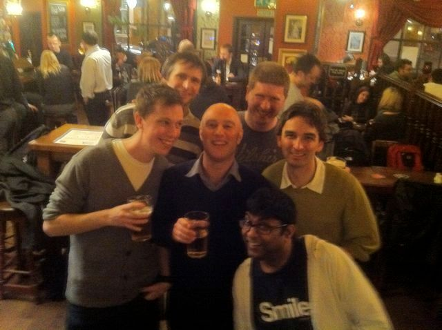 An early London meetup - usually involved a pub :)
