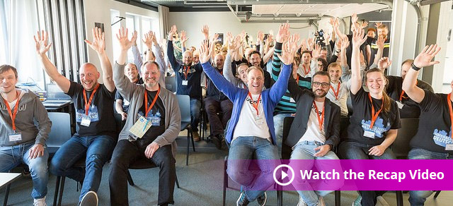 Image of Deutschland Festival's participants with a watch the recap caption